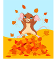 Happy fall mouse vector image