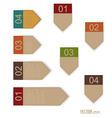 Set of labels with place for text vector image