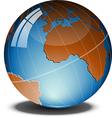 Globe on a tilt vector image