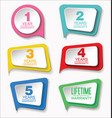 guarantee stickers modern design collection vector image