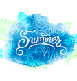 summer banner watercolor background vector image vector image