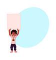 little black african american boy kid holding vector image