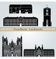 Trondheim landmarks and monuments vector image