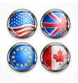 Flag round icons vector image vector image
