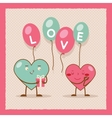 Valentines day Heart Gift Boy Girl Icon Flat vector image