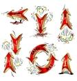 Cartoon moving arrows vector image vector image