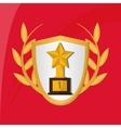 Champion design winner icon Colorful vector image