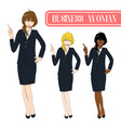 business woman pointing vector image