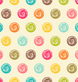 Color seamless grunge polka dots pattern vector image