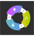 cricle ring 3d infographics design image vector image