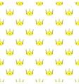 Crown pattern cartoon style vector image
