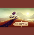 family travel vacation drive vector image