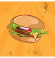 fast food with burger vector image