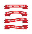 Happy new year ribbons vector image