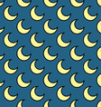 Moon seamless pattern hand drawn vector image