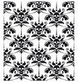 Pattern baroque with skulls vector image