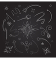 stars hand drawn vector image