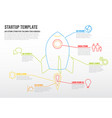 thin line startup infographic template vector image