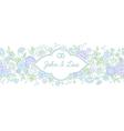 floral wedding horizontal vector image