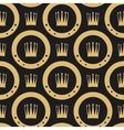 Golden crown seamless pattern vector image vector image