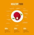 healthy food infographic with related icon vector image