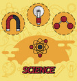 science flat concept icons vector image