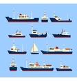 Ships set vector image