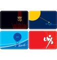set of vip plastic cards vector image vector image