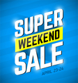 Super Sale Weekend special offer banner vector image vector image
