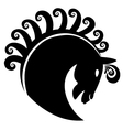 Horse with swirly hair logo vector image vector image