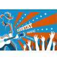 Country music concert with musician playing guitar vector image vector image