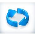 Blue cycle arrows vector image