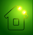 concept eco friendly house vector image