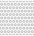 Polka dot ring seamless pattern vector image