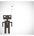 Robot on Grey Background vector image