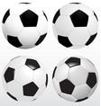 set of soccer ball football on white background vector image