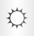stylized sun rays summer icon vector image