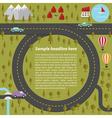 Summer landscape with roads vector image
