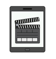 Isolated clapboard and tablet design vector image