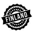 Finland stamp rubber grunge vector image