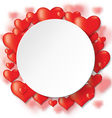 heart backg round vector image vector image