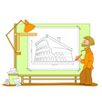 architect plan vector image