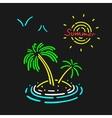 Neon Symbol Palm Tree vector image