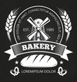 bakery house or shop label design with bread vector image