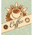 coffee retro vector image