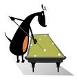 Dog pool player vector image