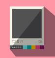 Flat design photo frame icon vector image