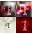 hoisting crane icon on blurred background vector image