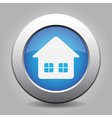 icon - home with two windows and shadow vector image