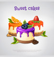 sweet cakes composition vector image